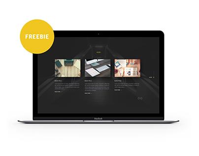Portfolio landing page template - Freebie