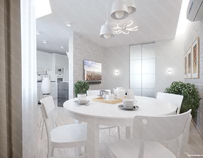 Проект квартиры в Скандинавском стиле