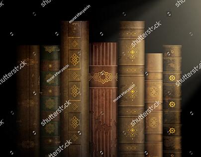3'te 3 Tarih Dekoru İçin Tarihi Kitaplar Illustrasyonu