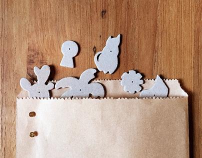 小花。雞蛋糕 - 紙徽章明信片