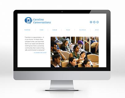 Carolina Conversations Website Design