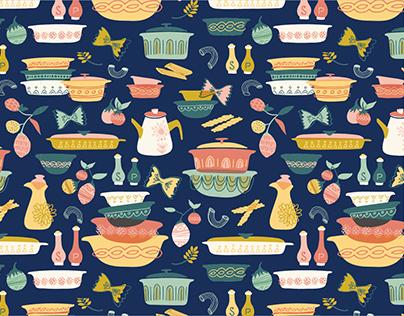 Vintage Kitchen Pattern Collection