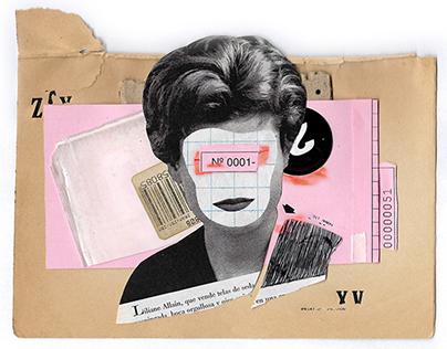 Handmade collage series (#A)