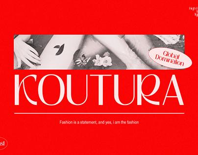 KOUTURA - Modern Fashion Fonts
