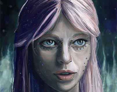Galaxy Gal - by Teresa McDougal Art