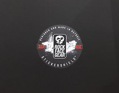 RockFaceGear Packaging and T-shirt Design