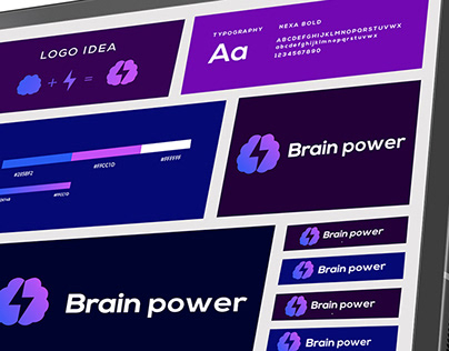 Brain Power Modern Logo Design
