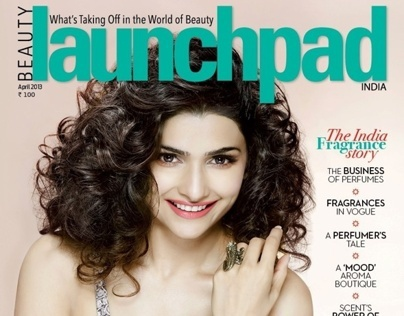 Prachi Desai for the cover of Beauty Launchpad
