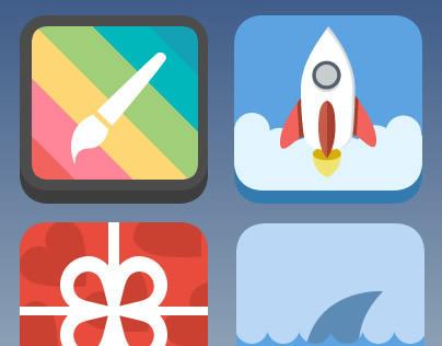 3D Flat Icons 2