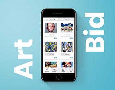 Art Theme Auctioneer App Adobe XD Template