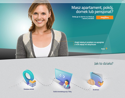 lokalo.pl dla gospodarzy landing page