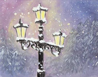 Lamp Post in Purple