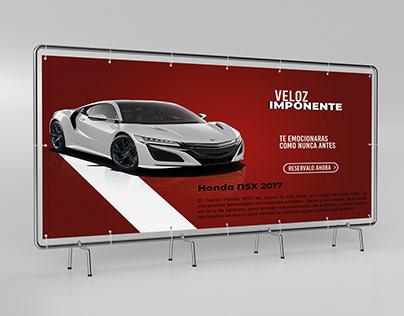 Honda Nsx Fence Banner Design