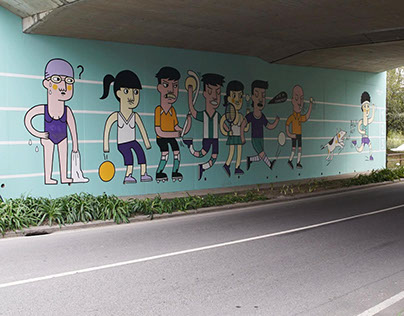 Wall about Sports in Guimarães