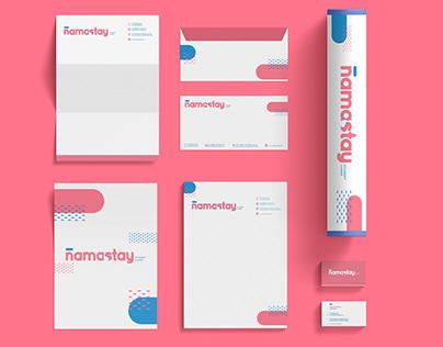 NAMASTAY : Student Living Brand Identity Design