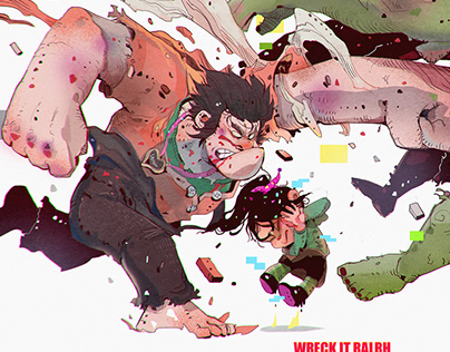 Wreck it Ralph disney x marvel