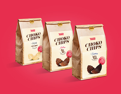 Toms ChocoChips. Packaging & In-Store