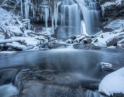 Winter at Smokey Hollow Water Fall