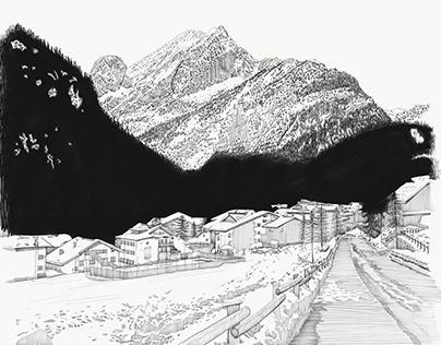 Inverno in Bianco e Nero -Val di Fassa
