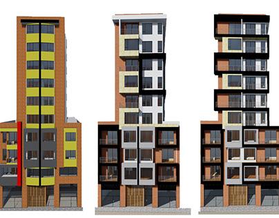 Diseño Fachada-Edificio Balcones de San Felipe-Colombia