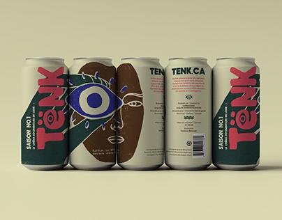 Tënk's beer label - Saison no.1
