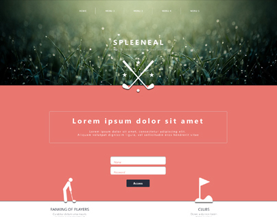 Website design of a golf club