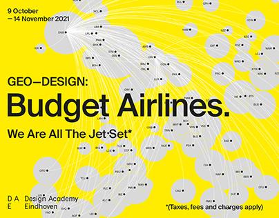 GEO-DESIGN: Budget Airlines exhibition identity