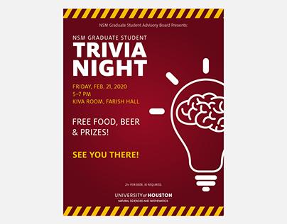 NSM Graduate Student Trivia Night Flyer