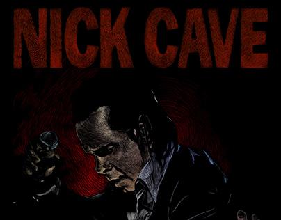 Nick Cave & ''Bad Seed Teevee'' poster design
