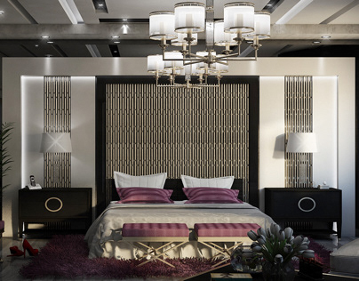 Rich modern master bedroom