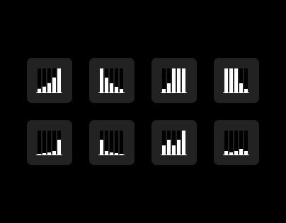 Flat Mono Graphs Icon Collection - Freebie