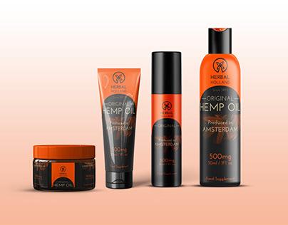 Hemp Oil Branding Scene Mockup