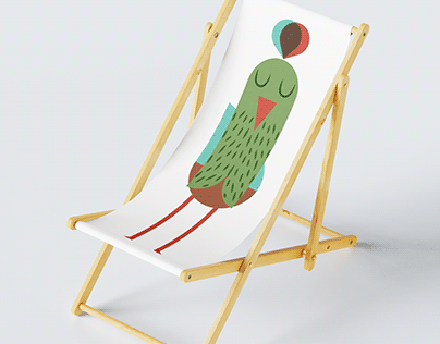 Peacock trio - Illustrated hammock