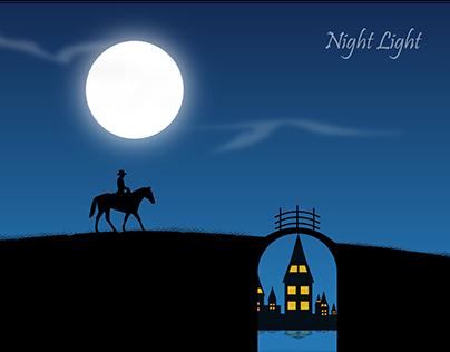 Night Light | Landscape | Illustration