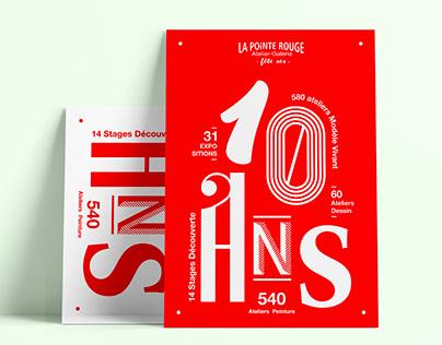 10 ans La Pointe Rouge // Affiche