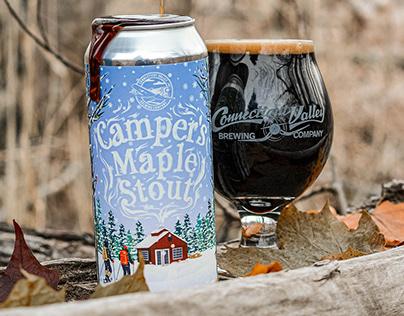 Camper's Maple Stout label design