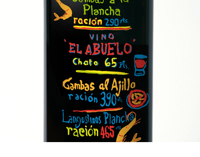 EL ABUELO SWEET RED WINE BOTTLE