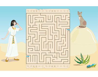 Egypt maze game