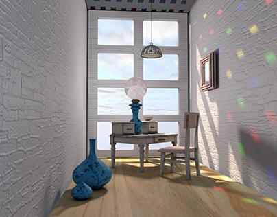 3D modeling - room