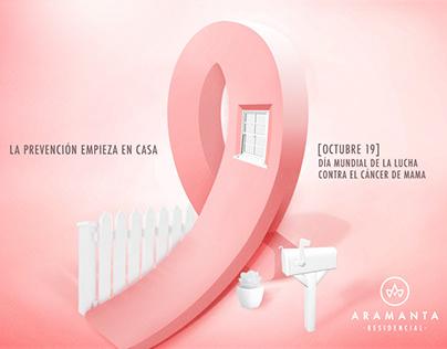 "Print - Aramanta Residencial ""Cáncer de mama"""