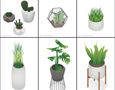 Isometric Vegetation - Indoor Plants