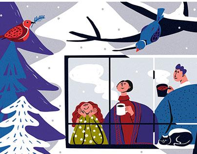 2017 Calendar Illustration