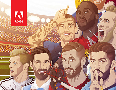 Adobe #SketchTheMatch World Cup Illustrations