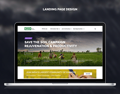 Iffco Live Landing Page Design