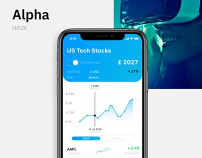 ALPHA | UI concept app