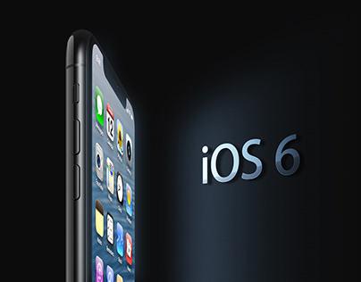 iOS 6 Theme on iPhone X