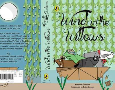 Wind In The Willows Book Cover Design