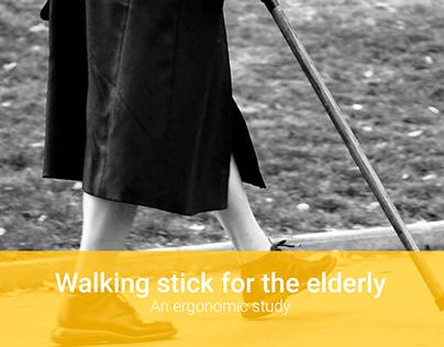 Ergonomic walking stick for the elderly