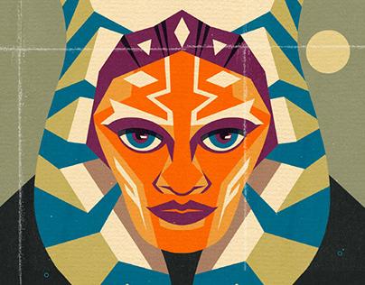 Ashoka Tano Star Wars Poster