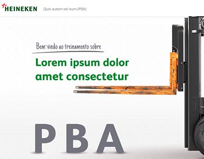 Interface Heineken - Treinamento Online